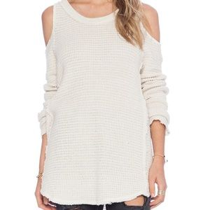Free People Sunrise Cold Shoulder Sweater
